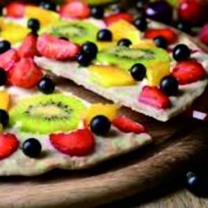 Pizza fruta y queso